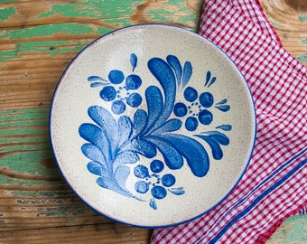Vintage dish, hand-painted
