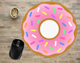 Strawberry Mouse Pads, Mouse Pads, Mouse Pads For Computers, Cute Mouse Pads, Mouse Pad, Strawberry Doughnut Mouse Pad