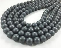 10mm Hematite Beads, Matte Hematite Beads,Round Beads,Hematite Jewelry