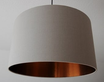 "Lampshade ""Taupe-copper"""