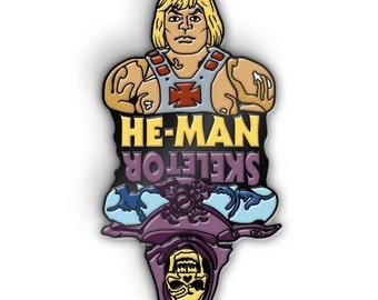 He-Man Skeletor Flip Lapel Pin Collectible Hatpin MOTU Masters Of The Universe Limited Edition