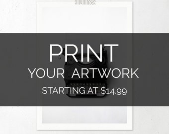 Print Your Own Art Poster // Print all size printables and downloadable art, affordable wall art prints, giclee print, custom art print