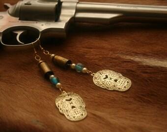 Day of the Dead Shell Casing Earrings