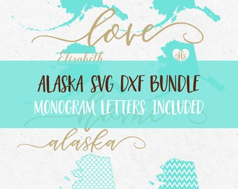 Alaska Svg Bundle svg fonts svg monogram frames svg monograms files for silhouette svg files for cricut svg files svg mermaid pattern svg