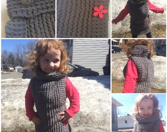 Customize your child Poncho (or top) of 3 years and less. On clothes. Poncho for child under 3 years.
