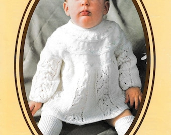 Baby Top Knitting Pattern, Baby Angel Top Knitting Pattern, Vintage Baby Knitting Pattern, 1960s Knitting Pattern PDF, BP008