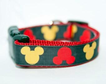 "Disney Mickey Mouse 1"" Dog Collar"
