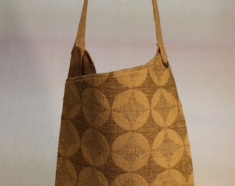 Large Fabric Bag with Large Geometric Print Item #B64