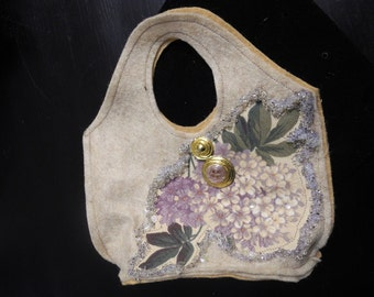 Eco-Felt Handbags - Bourse Petite, Detroit Diamonds, eco-friendly