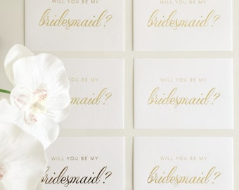 Bridesmaid's Proposal Card in Gold Stamping