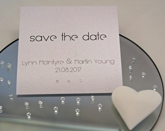 Personalised Wedding Save the Date Cards
