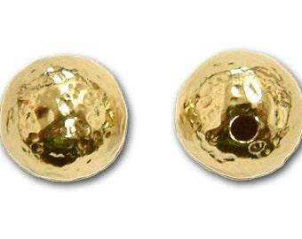 5mm, 6mm, 7mm or 8mm Gold Filled Hammered Beads 14/20kt. - 10 pcs
