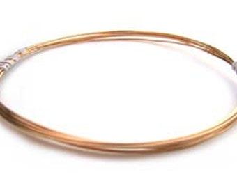 Gold Filled Wire - Round - 24gauge Soft - 1oz.