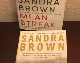 2 Sandra Brown Fiction/Suspense/Romance Novels- Lethal and Mean Streak