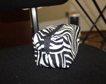 Zebra Boxy Pouch