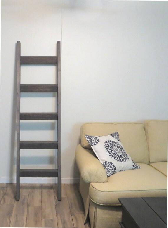 6 Ft Blanket Ladder Rustic Wood Blanket Ladder By Justknotwood