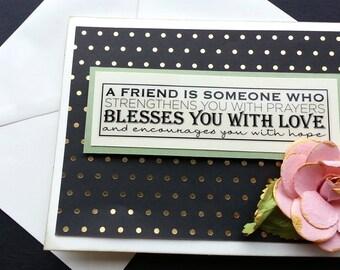 Handmade Friendship Card