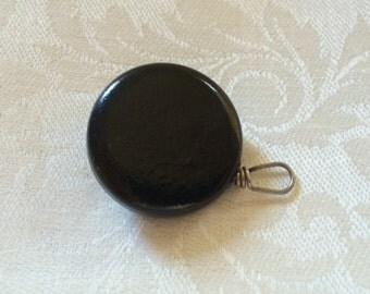 Ketcham & McDougall Enamel Watch-Fob Brooch With Retractable Chain