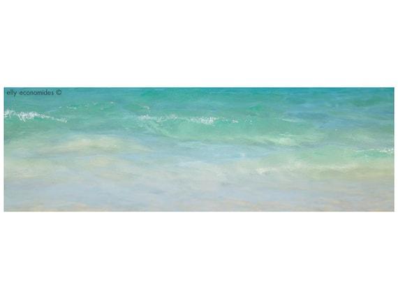 sea, ocean, aqua, wave, blue, water, beach, turquoise, calm, coast, Ocean Water Print, wall art, Ocean Waves, panoramic, 036
