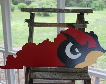 Louisville Cardinal Bird on Kentucky State Cutout