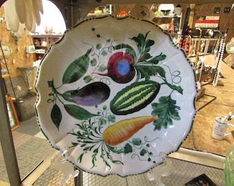 Vintage Handpainted Platter