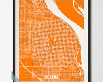 Rosario Map, Argentina Poster, Rosario Print, Rosario Poster, Argentina Map, Argentina Print, Street Map, Map Print, Christmas Gift