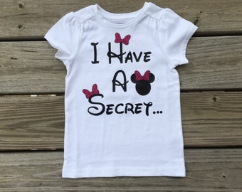 Minnie Mouse Big Sister announcement shirt