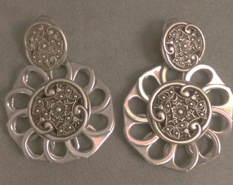 Pop Tab and Button earrings