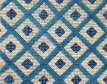 Blue Diamonds Needlepoint