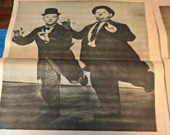 Original Vintage Poster - Laurel and Hardy