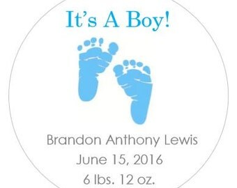 Personalized Baby Birth Labels