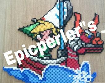 Zelda wind waker large  perler art hama art fuse art