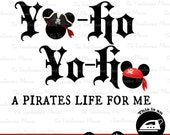 Disney Pirate Shirt printable iron on Mickey Head Pirate Yo Ho Yo Ho A Pirate's Life For Me Shirt printable
