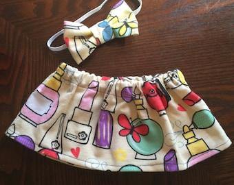 Newborn Skirt & Bow Set