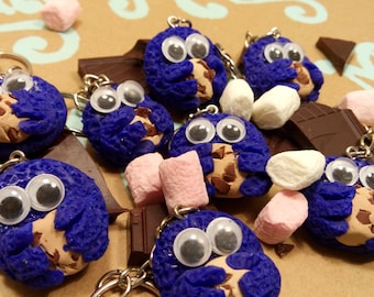 Monster cookie keychain
