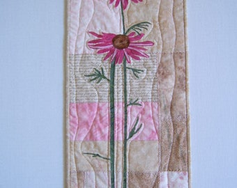 Wall Quilt Pink Cone Flowers