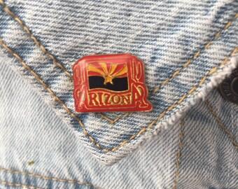 Vintage Arizona lapel pin state flag enamel pin (stock #66)