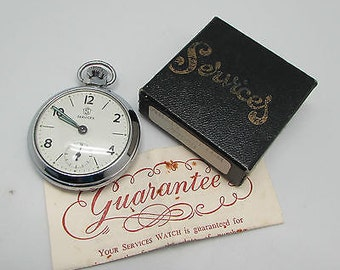 Vintage Services Pocket Watch - hand winding - Working, with box & instructions - 1969