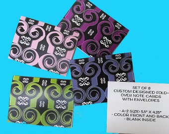 Custom Designed Note Cards with envelopes - Set of 8