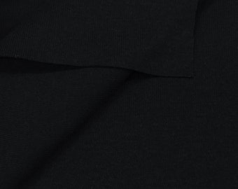 100% Cotton 1x1 Rib Knit Fabric (Wholesale Price Available By the Bolt) USA Made Premium Quality - 4089c - 1 Yard