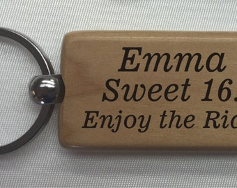 Personalized Wooden Key Chain, Birthday gift, Anniversary gift, House warming
