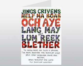 Scottish Words Greetings Card WWGR19