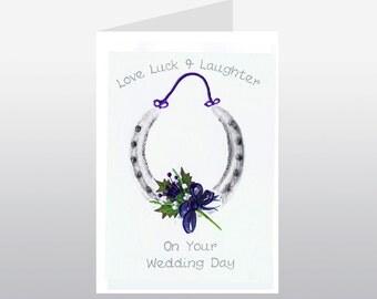 Scottish Wedding Card Horseshoe WWWE50