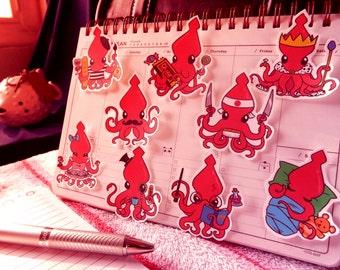Squid-Squid Stickers