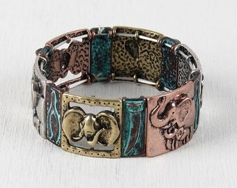 Elephant Tiles Bracelet - Multi
