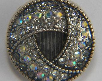 Large(18mm) Gray Crystal Snap
