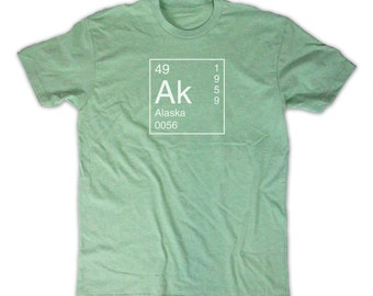 Alaska Shirt - Inspired by the Periodic Table of Elements