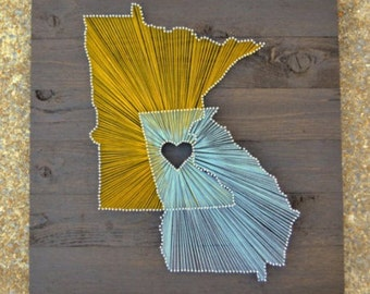 Personalized - State Nail String Art