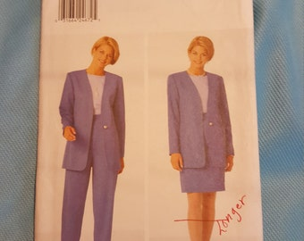 1996 Butterick 4767 size 18 to 22 Uncut