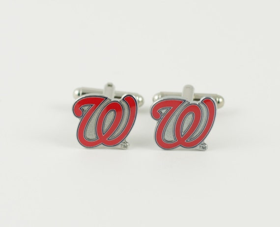 Washington Nationals Cuff Links -- FREE SHIPPING with USPS First Class Domestic Mail